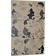 REDUCED San Francisco Bulletin Original Pen and Ink Illustration c.1926