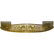 REDUCED 18th Century Solid Brass Fire Fender c.1780's