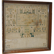 REDUCED Early to Mid 19th Century Sampler