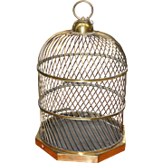 REDUCED 19th Century Twirled Brass Birdcage