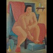 REDUCED Figurative Nude Study by Nancy Larsen c.1940's