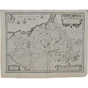 REDUCED 17th Century German Map by Jan Jansson