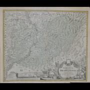 REDUCED A Map of Hradiste Region by Johann Baptist Homann c.1720