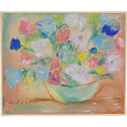 REDUCED Vintage Pastel Floral Still Life by Oloff