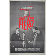 REDUCED HOME IS THE HERO Movie Poster c.1959