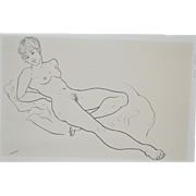 REDUCED Mid Modern Pen & Ink c.1960's