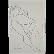 REDUCED Edward Hagedorn (1902-1982) Original Mid Modern Pen & Ink c.1960's.
