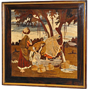 REDUCED Intricate Inlaid Indian Marquetry