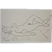 REDUCED Figural Nude Study by Hagedorn c.1960's