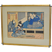 REDUCED 19th Century Japanese Color Woodblock Print