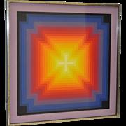 Jurgen Peters Op Art Serigraph c.1970's