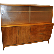 Mid Century Teak Sideboard Hutch by Brown Saltman c.1950s