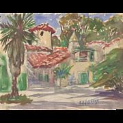 Edna B. Hotchkiss Watercolor c.1930's