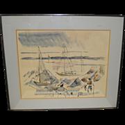 Vintage Watercolor by Alfred Birdsey (Bermuda) c.1960's