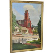 Antique Oil Painting by R. Davenport