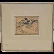 Albert Sheldon Pennoyer (1888-1957) Original Pen and Ink