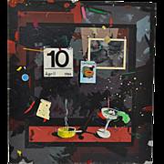 Mark McDowell Acrylic Mixed Media on Canvas c.1986