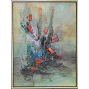 Mid Modern Abstract Painting by Mystery Artist c.1960's