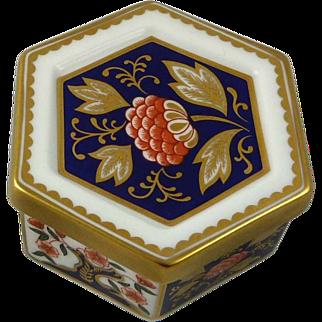 Superb Vintage Royal Crown Derby Porcelain Trinket Box