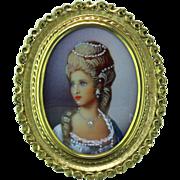 Porcelain Portrait 18K Pendant/Brooch