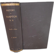 1893 Edition History of the Town of Hampton, NH 1638 - 1892 by Joseph Dow