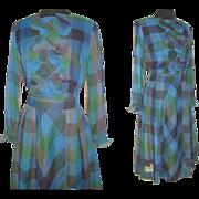 Vintage 1950s Dress  .  Designer Sheer  .  Mr. Jack of Dallas