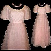 Vintage1950s Dress  .  Kadine  .  Wedding Dress  .  Femme Fatale Mad Men Garden Party