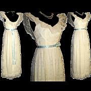 Vintage 1950s Dress . 50s Evening Gown .  Wedding .  Femme Fatale Mad Men