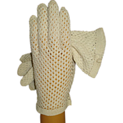 Vintage 1950s Gloves . Crocheted . Rockabilly . Mod . Gown Wedding Garden Party Mad Men ...