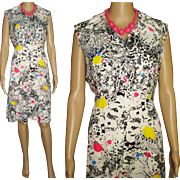 Vintage 1960s Dress . Miss Joey . NOS . Tags Attached Femme Fatale Garden Party Mad Man ...