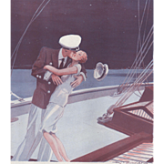 SALE Valentine Love- Vintage Art Deco print