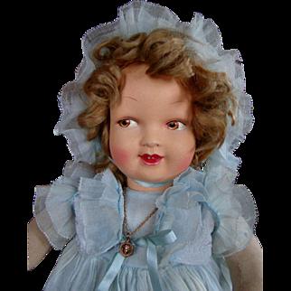 "RARE AO Shirley Temple type French ""La Venus"" Cloth Doll"