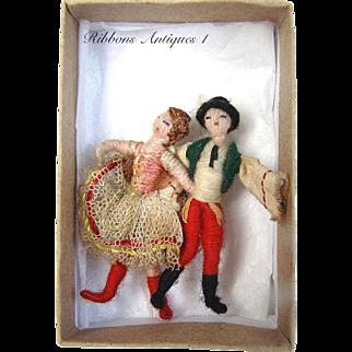 Very Rare Stefania Lazarska's A.A.P. fetishes/yarn dolls , Creator and maker of Mme Padereski's dolls