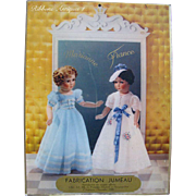 Very Rare Large 1938 Doll Advertisement of French Dolls by SFBJ marked Jumeau (Princesses ...
