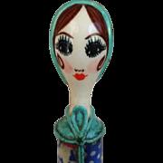 SOLD Gemma Taccogna Paper Machet Lipstick Holder C1950