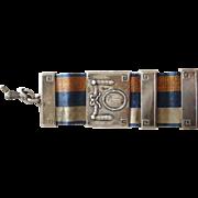SOLD Sterling ribbon holder W.P. 1916-1917