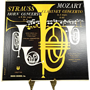 R. Strauss Horn Concerto and W.A. Mozart Clarinet Concerto Vinyl Record