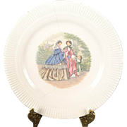 "Salem China Victory Series ""Godey Prints"" Bread Plate"