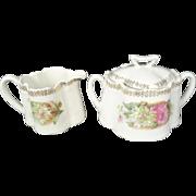Zeh Scherzer & Co. Creamer and Sugar Bowl with Lid Circa 1880-1918