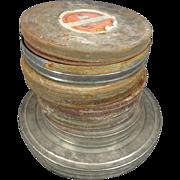Lot Of Assorted Reel Film Cans 7 Different ; Dupont, Eastman Kodak Co. , Du-Art