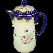 Vintage Ceramic Decorative Pitcher with Lid