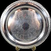 Leonard Silver-Plated Round Serving Platter