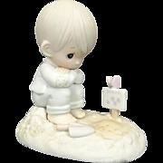 """Enesco Precious Moments """"In His Time"""" Ceramic Figurine"""