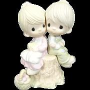 "Enesco Precious Moments ""Love One Another"" Ceramic Figurine"
