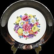 Enesco 25th Anniversary Floral Plate 1983