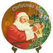 """Edwin Knowles """"Santas Golden Gift"""" Collectors Plate"""