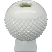 Westmoreland Milk Glass Ivy Ball Footed Vase Circa 1960's