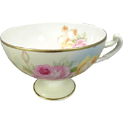 Royal Rudolstadt Prussia Footed Tea Cup Circa 1930's
