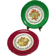 Pair of Winterling Fruit Patterned Salad Plates