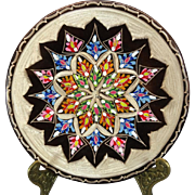 Beautifully Adorned Hand-Painted Copper Wall Plaque